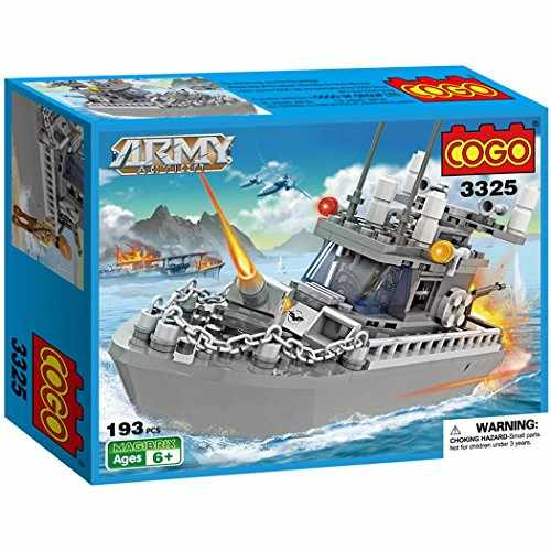 Loongon 300 pieces Army Action Construction Set